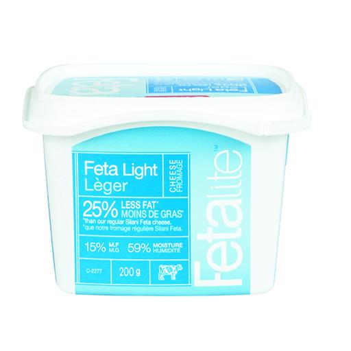 Silani Feta Cheese, Light, In Tub