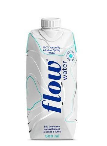 Flow, Naturally Alkaline Spring Water, Tetra Packed