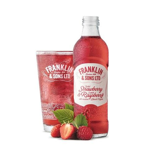 Franklin & Sons Premium UK Sparkling Beverage, Strawberry & Raspberry