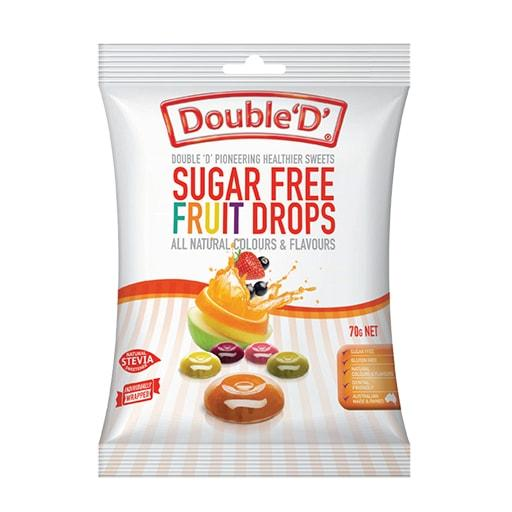 Double D Sugar Free Candy, Fruit Drops