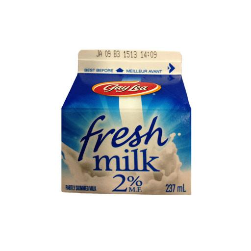 Milk, 2% - Gay Lea 237ML - Penguin Fresh