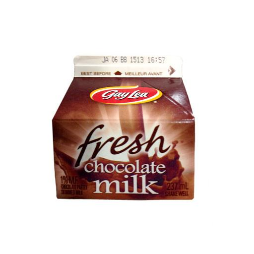 Milk, 1% Chocolate Milk - Gay Lea 237 ml - Penguin Fresh