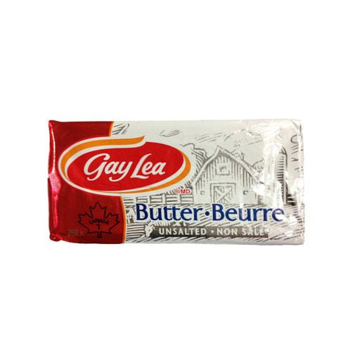 Butter, Unsalted - Gay Lea 250g