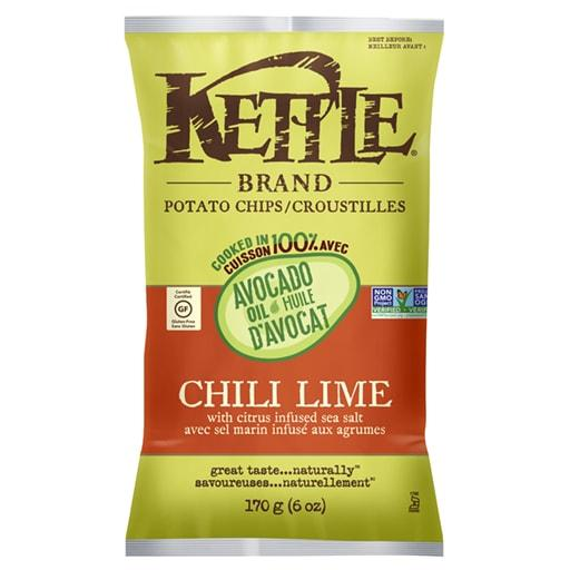 Avocado Oil Potato Chips, Chili Lime, Kettle Foods