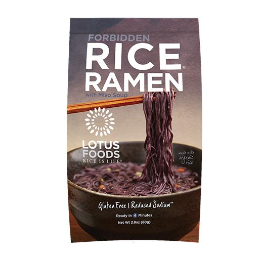 Lotus Foods Inc, Forbidden Rice Ramen (Black) with Miso Soup