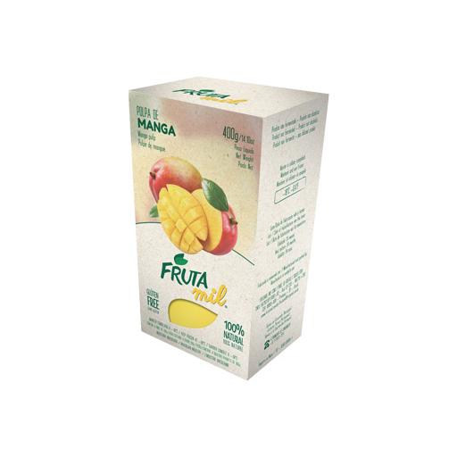 Fruit Pulp, 100% Natural, Frozen, Mango, Frutamil