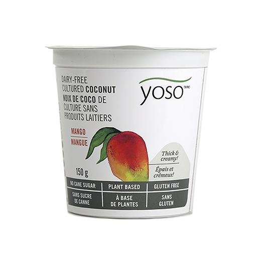 Dairy-Free Cultured Coconut Yogurt, Mango, YOSO