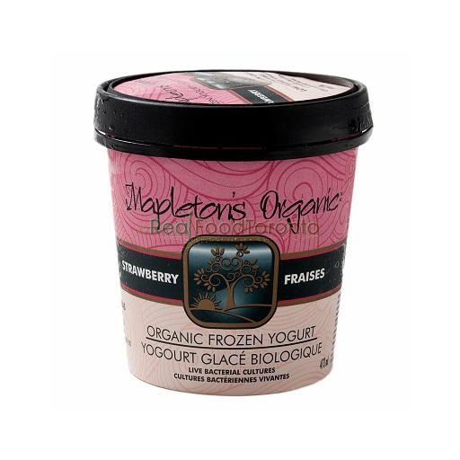 Mapleton's Organic Frozen Yogurt, Strawberry