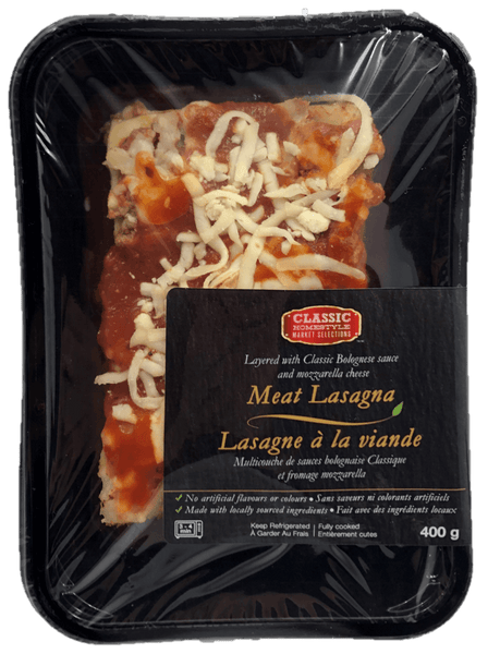 Fresh Single Serve Entrée, Meat Lasagna