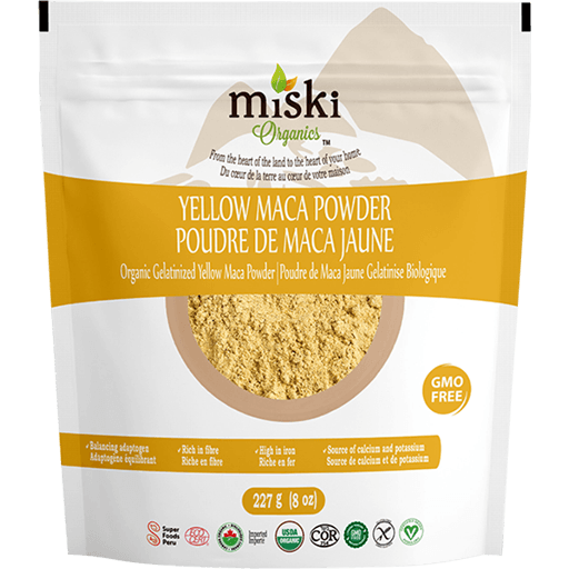 Gelatinized Dried Yellow Maca Powder, Organic