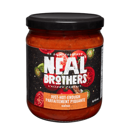 Salsa Sauce, Just-Hot-Enough, Medium, Neal Brothers