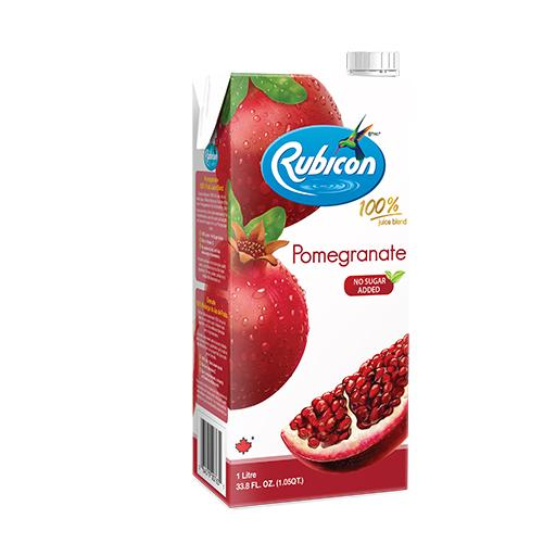 Natural Pomegranate Juice, 100% Juice Blend, Rubicon