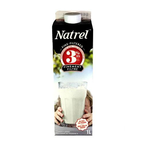 Milk, 3% Fine Filtered - Natrel 1L