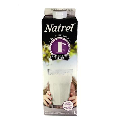 Milk, 1% Fine Filtered - Natrel 1L