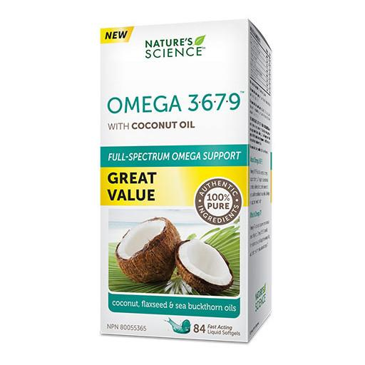 Nature's Science Omega 3-6-7-9 with Coconut Oil