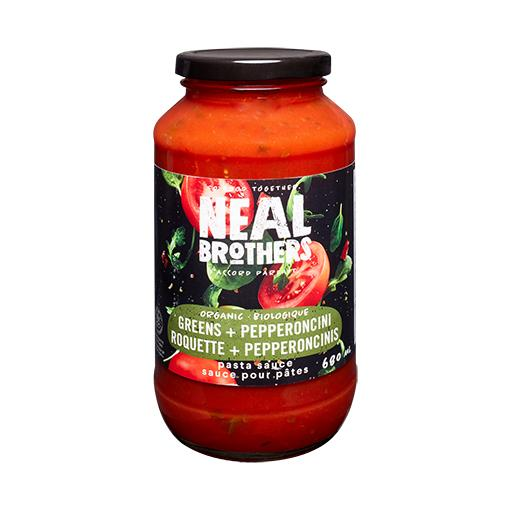 Neal Brothers, Organic Pasta Sauce, Greens & Pepperoncini