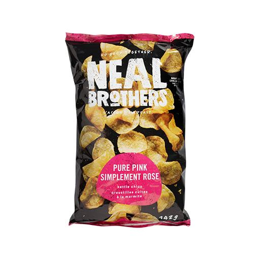 Neal Brothers, Kettle Cooked Potato Chips, Pure Pink, Low Sodium