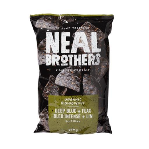 Tortillas Chip, Deep Blue + Flax Organic, Neal Brothers