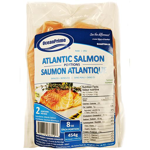 Atlantic Salmon, Skinless, Boneless, Frozen, Norway