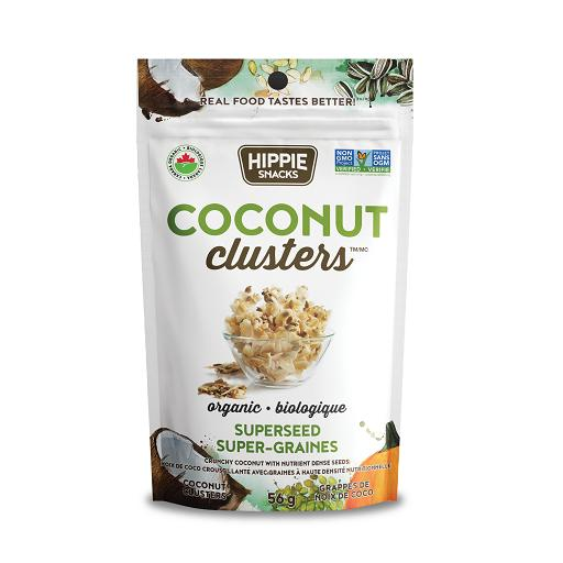 Organic Coconut Clusters, Superseed, Hippie Snacks