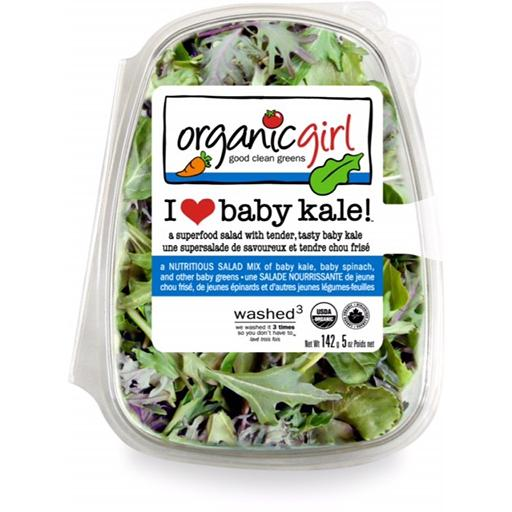 Packaged Salads, Baby Kale, Organic Girl
