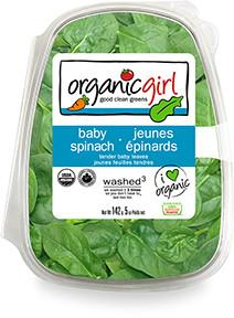 Packaged Salads, Baby Spinach, Organic Girl