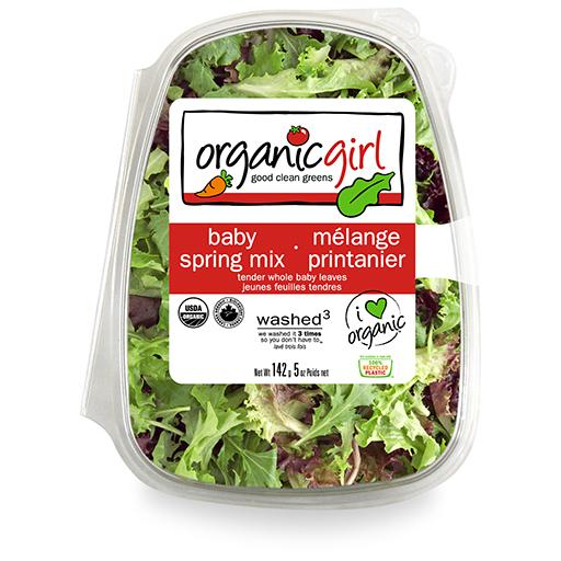 Packaged Salads, Baby Spring Mix, Organic Girl