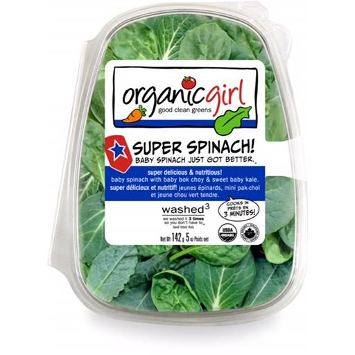 Packaged Salads, Super Spinach, Organic Girl