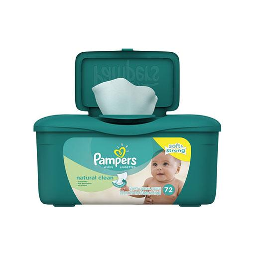 Pampers Wipes Natural Clean 4x stronger