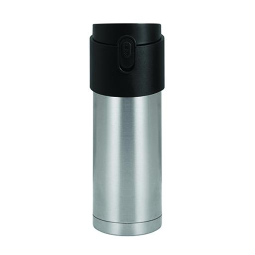 Pao Thermo Mug, Silver with Black Lid