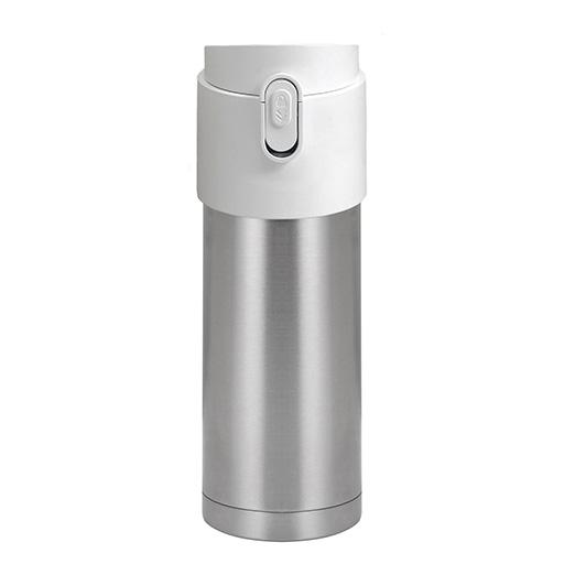 Pao Thermo Mug, Silver with White Lid