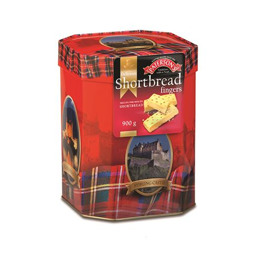 Scottish Shortbread Fingers Castle, Tin, Paterson's