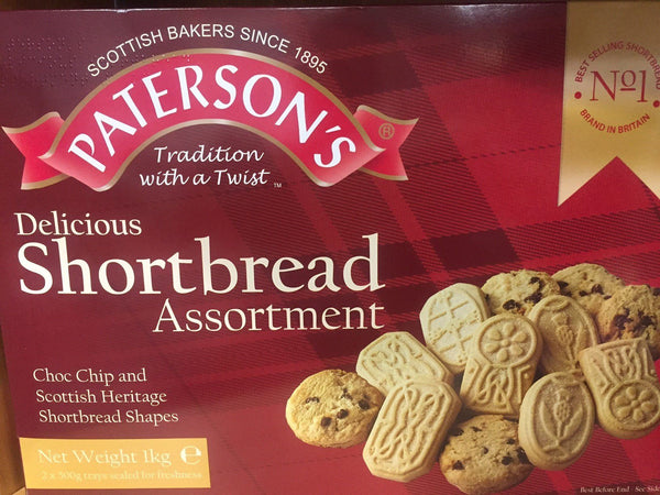 Scottish Shortbread Assorted, Heritage Collections, Carton, Paterson's