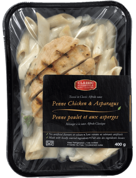 Fresh Single Serve Entrée, Penne Chicken Asparagus