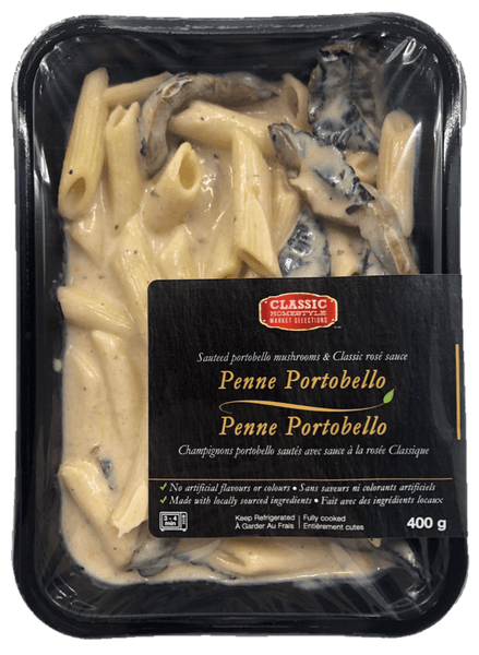 Fresh Single Serve Entrée, Penne Portobello
