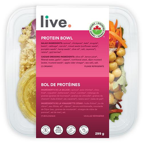 Salad Meal, PROTEIN BOWL, LIVE Organic