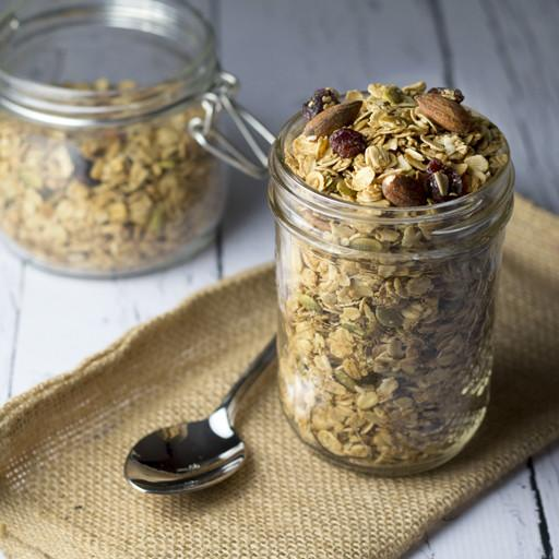 Granola, Pumpkin Spice with Almonds, Pumpkin Seeds and Dried Cranberries