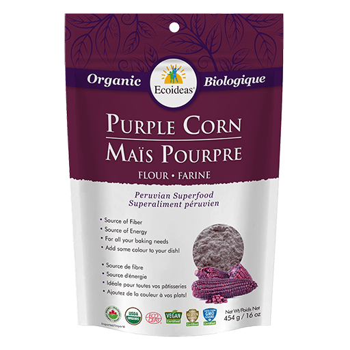 Purple Corn Flour, Organic, Ecoideas