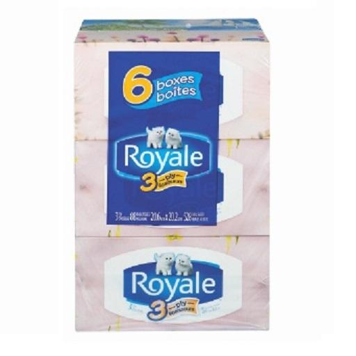 Royale Facial Tissue, 3 Ply, 88's