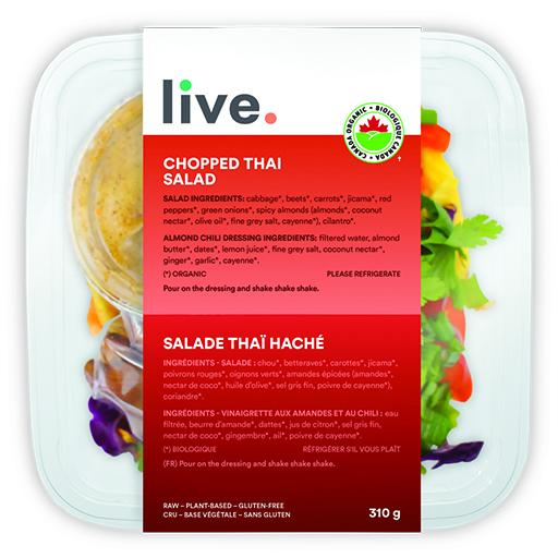Salad Meal, CHOPPED THAI SALAD, LIVE Organic