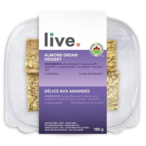 Single Serve Dessert, ALMOND DREAM BARS, LIVE Organic