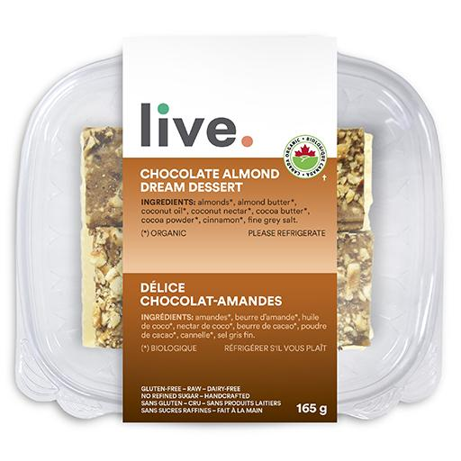 Single Serve Dessert, CHOCOLATE ALMOND DREAM BARS, LIVE Organic