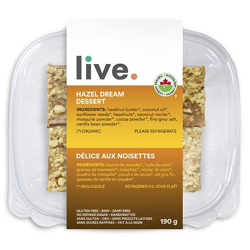 Single Serve Dessert, HAZEL DREAM BARS, LIVE Organic