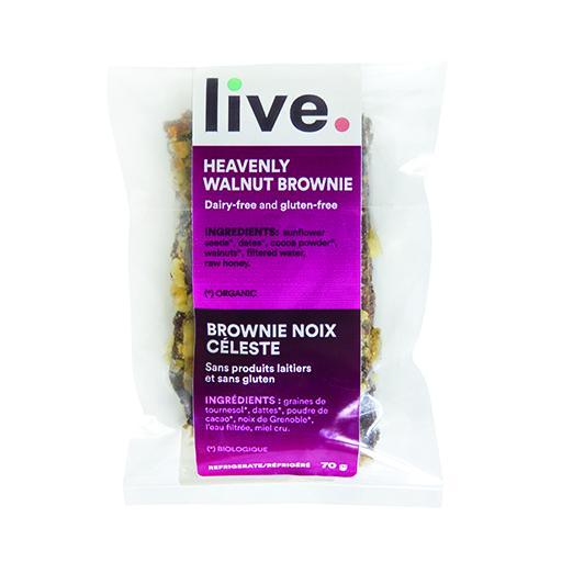 Single Serve Dessert, HEAVENLY WALNUT BROWNIE, LIVE Organic