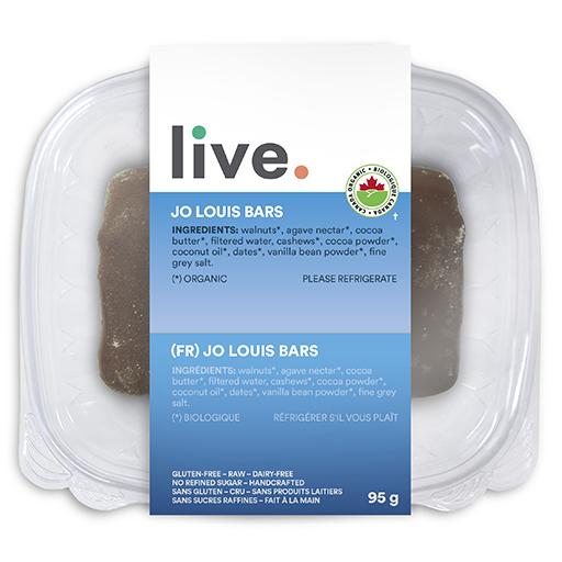 Single Serve Dessert, JO LOUIS BAR, LIVE Organic