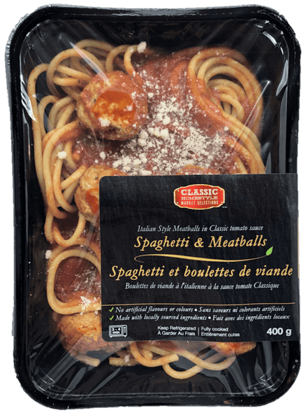 Fresh Single Serve Entrée, Spaghetti & Meatballs