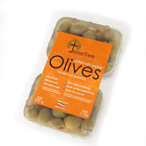 Green Olives, Stuffed with Pepper