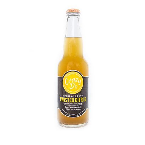 Prebiotic Soda, Twisted Citrus, Crazy D's
