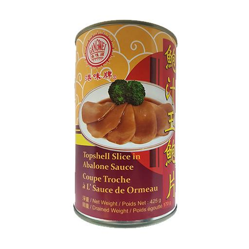 Topshell Slices in Abalone Sauce, Canned, Ready to Eat