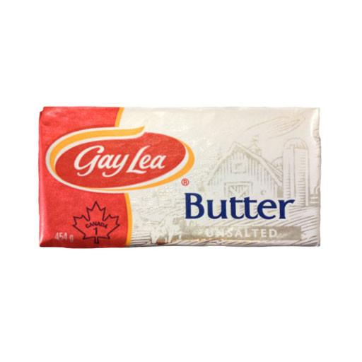 Butter, Unsalted - Gay Lea 454g